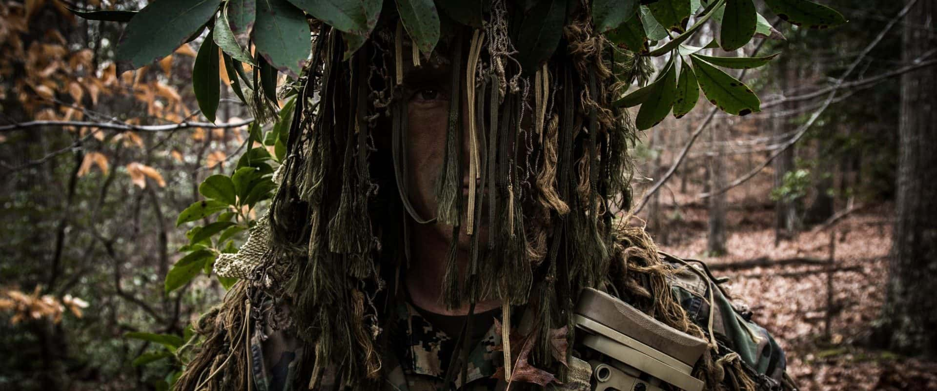 Extras, Sniper in full camo, looking like a tree, Scout Sniper School