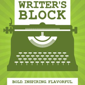 Coffee Label Writer's Block front