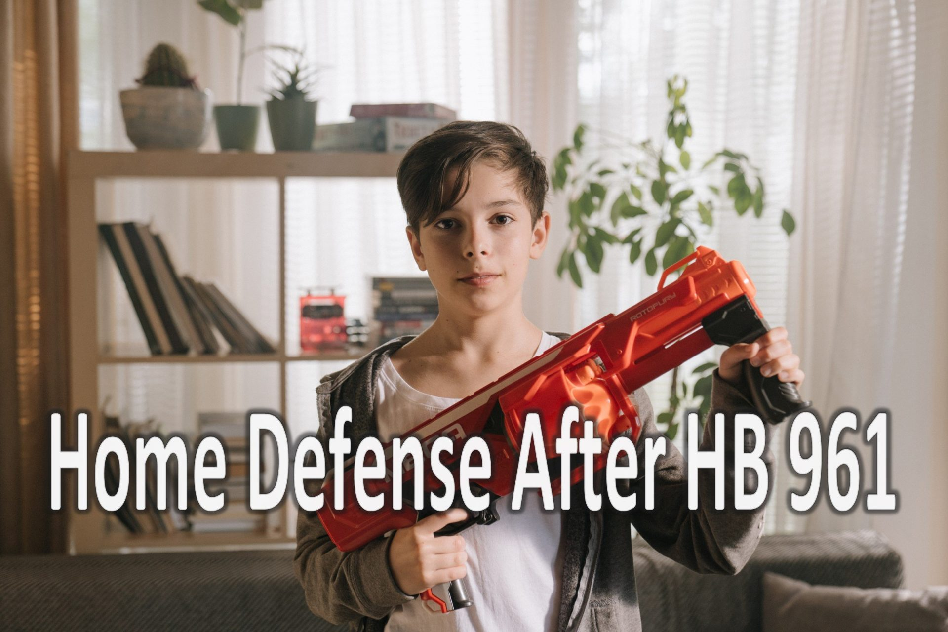 child with NERF gun